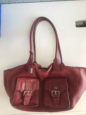 Oroton large leather tote handbag