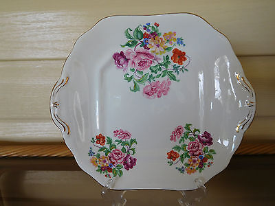 Hammersley Floral Cake Plate Made In England