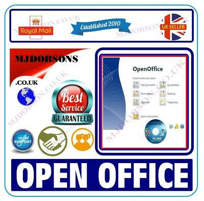 Open Office 2018 Suite Compatible With Microsoft Word-Excell Instant Download