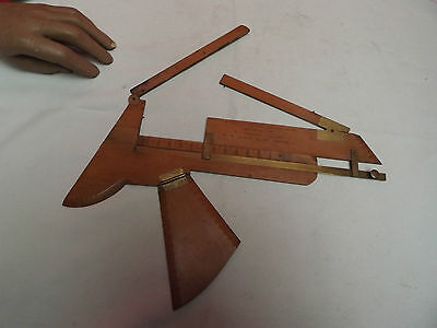 DELINEATOR (ROOKE'S DELINEATOR) ARCHITECT (RARE) Fruitwood (BRASS) C1830