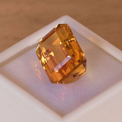 Natural 19.25ct Citrine from Brazil, Emerald Cut - No Reserve