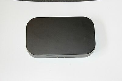 Aluminium Fly Box in black with small slitted foam nymphs dries or wet flies