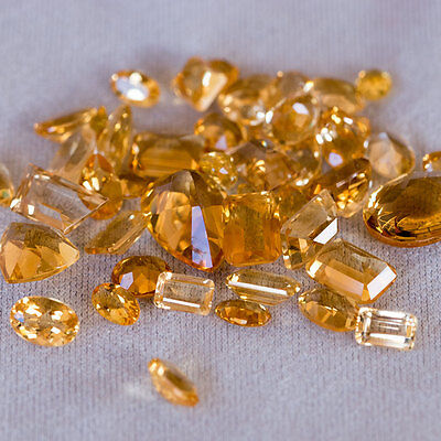 25.68 CTW Natural Citrine lot from Brazil, Various Cuts - No Reserve