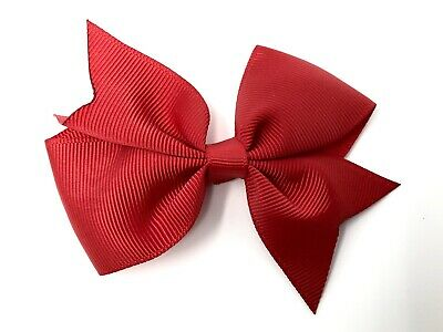 Red Bow Hair Clip Back to School Uniform