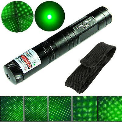 Military Powerful Green 1MW 532nm Laser Pointer Pen Light Visible Beam Adjust
