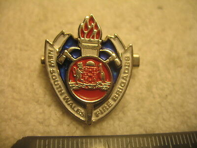 NSW Fire Brigade Badge Pin Fire Fighting Collectible