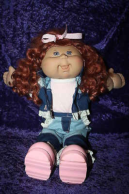 Cabbage Patch Doll 2004 Play Along Red Head Cornsilk Ringlets  Dressed Shoes