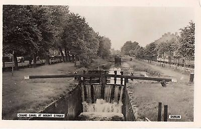 Grand Canal At Mount Street Dublin Ireland Rp Irish Postcard