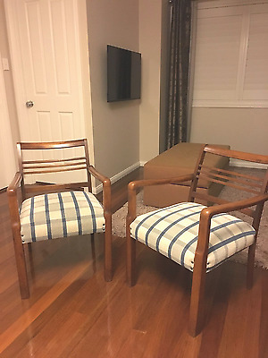 2 x Mid Century Modern Accent Chairs