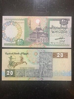 Egypt 20 Pounds Perfect UNC 1982 Banknote