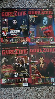 GOREZONE MAGAZINES numbers 21-30  used but in very good condition