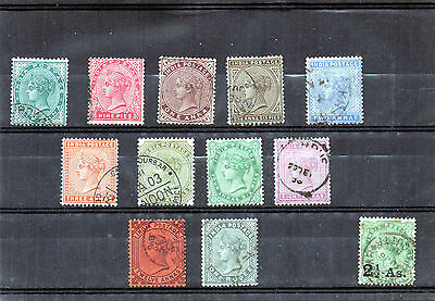 INDIA 1882 QV  set/11 USED to 1R + 1883 surc