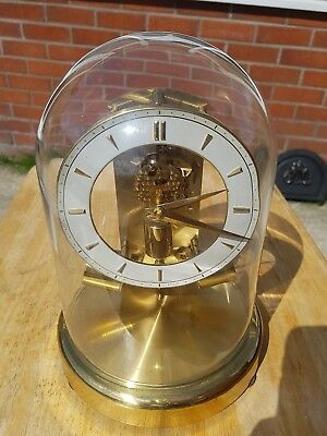 Vintage Junghans ATO Anticlimatic Electric Glass Domed Clock Working