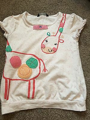 Girls 4-5 Giraffe Top T Shirt George