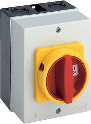 25A 3 pole Disconnect switch in weatherproof enclosure