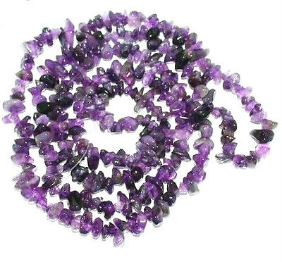 Amethyst Crystal necklace SPIRITUALITY & INTUITION Long 41cm  Formally Cleansed