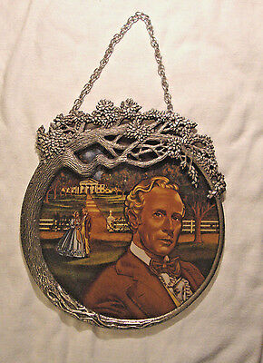 """Gone With the Wind """"ASHLEY'S SMOLDERING FIRE"""" Stained Glass & Pewter"""