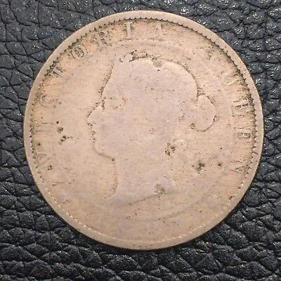 Jamaica 1887 Penny With Very Low Mintage (24,000) Queen Victoria
