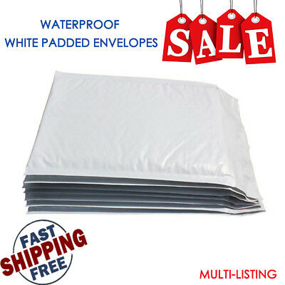 Waterproof Poly Mail Padded Bags Envelope White Postal Strong Bubble Mailer Bags