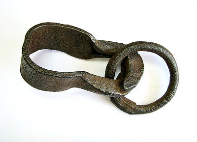 Antige Old Forged Manually Metal Cast Iron Industrial Hook Hanger Loop Hardwar