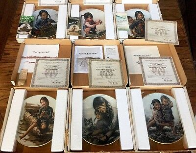 Kee Fung Ng Children Of Aberdeen 6 Plate Collection - New In Box - COA