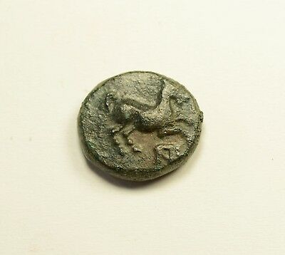 Maroneia in Thrace 400BC Original Ancient Greek Coin Horse Vine Grapes