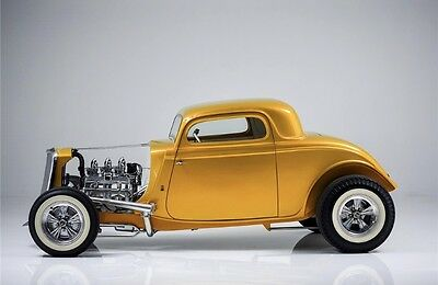 1933 Ford Coupe  1933 Ford 3 window Coupe Rick Dore SCREAMIN KAT Show Build