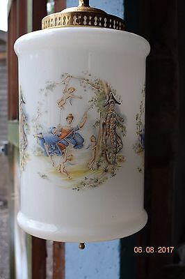 Old French Boudoir  Light   Harlequin & Cherubs