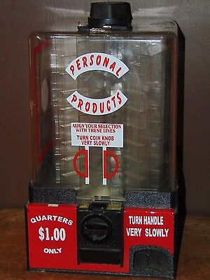 Personal Products Medicine / Condom Carousel Vending Machine $1.00 WITH KEYS!