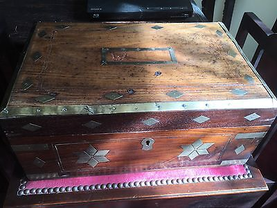 Antique 19th Century Box With Compartments