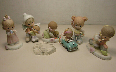 Lot of 6 Assorted Precious Moments Figurines Growing in Grace + More