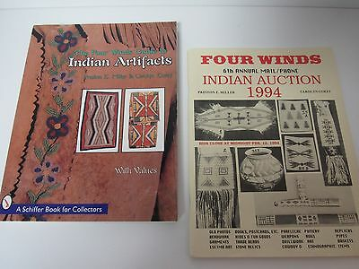 Native Indian Artifacts Collectors Guide Book & Four Winds 1994 Auction Catalog