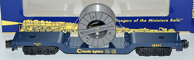 American Flyer 6-48531 Chessie System Flatcar with Cable Reel (NEW IN BOX)