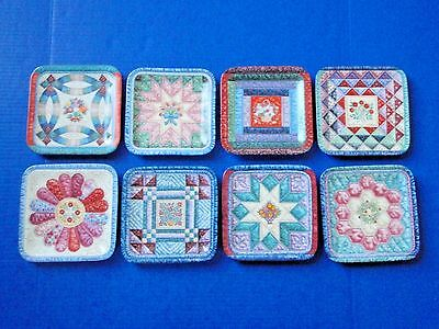 Mary Ann Lasher Cherished Traditions Quilt Plates - Bradford Exchange - EUC/COA