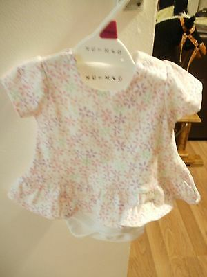 Pink and White Baby Girl's Top New Born Nutmeg