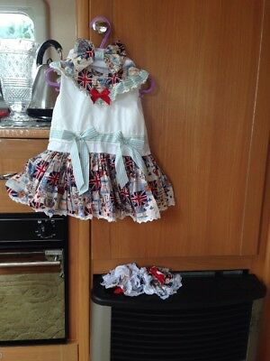 Romany Baby Girls London Dress By Fairytale 6-9 Months With Socks And  Hair Bow