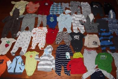Baby Boy 3 Month Clothing Lot Carters 39 Piece Shirts Pants Outfits Bodysuits