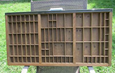 """Vintage Wood Printers Drawer/ Minatures Display 88 Compartments 32"""" x 16.75"""""""