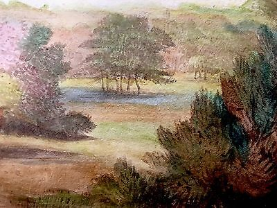 Beautiful Antique Early c1855 Original Water Colour Painting Stunning Details