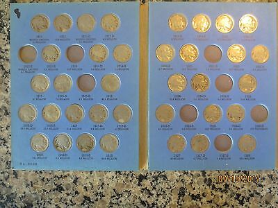 55 coin partial set buffalo nickels 1913-1938 nice with 1913s type 2