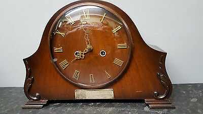 Vintage Smiths Enfield 8 Day Mantle Clock with Strike