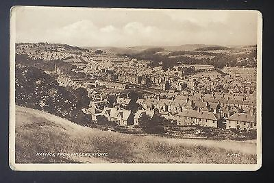 POSTCARD Hawick from Millers Knowe SCOTLAND Houses TOWN View SEPIATYPE 934