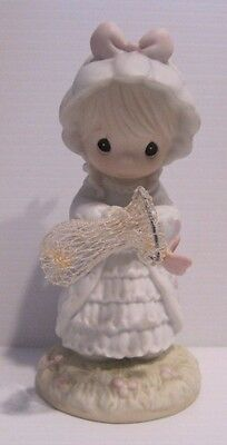 """1990 Precious Moments """"May Only Good Things Come Your Way"""" 524425 Girl Butterfly"""