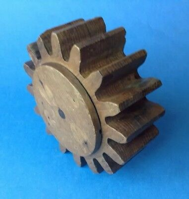 Vintage Wooden Foundry Mould Mold Industrial Pattern Cog Gear
