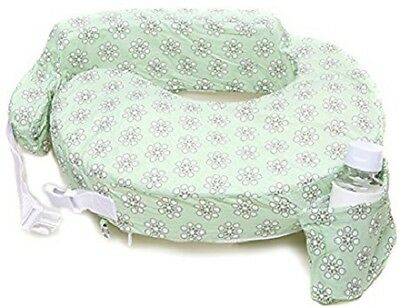 My Brest Friend ORIGINAL Nursing Pillow Slipcover, Sage Dotted Daisies, Green