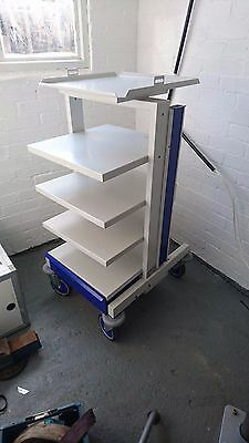 Equipment / Stack / Storage Trolley on Wheels with Drawer etc UK mfg CTL Medical