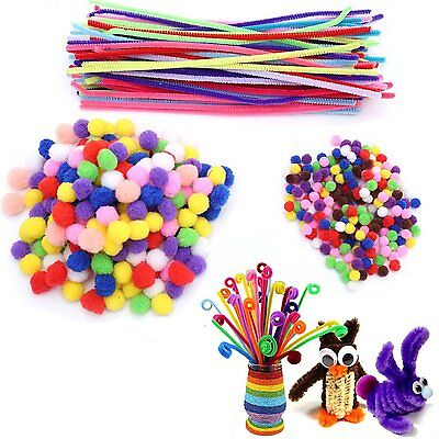 100 Chenille Craft Stems Pipe Cleaners 10 Colours  15cm x 6mm FREE SHIPPING 4056