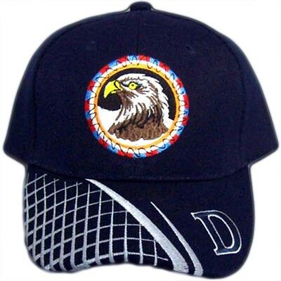 CapNp619 Z Eagle Native Pride Baseball Caps Embroidered   Navy Color