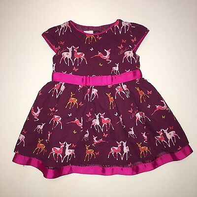 Ted Baker Baby Girls Purple Deer Formal Party Dress Skirt - 3-6 Months (Next Day