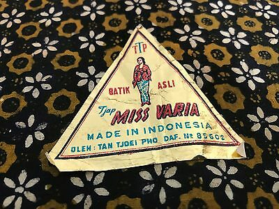 "Vintage New With Label Batik Indonesia Made Fabric TJAP, Varia, 84"" x 42"""